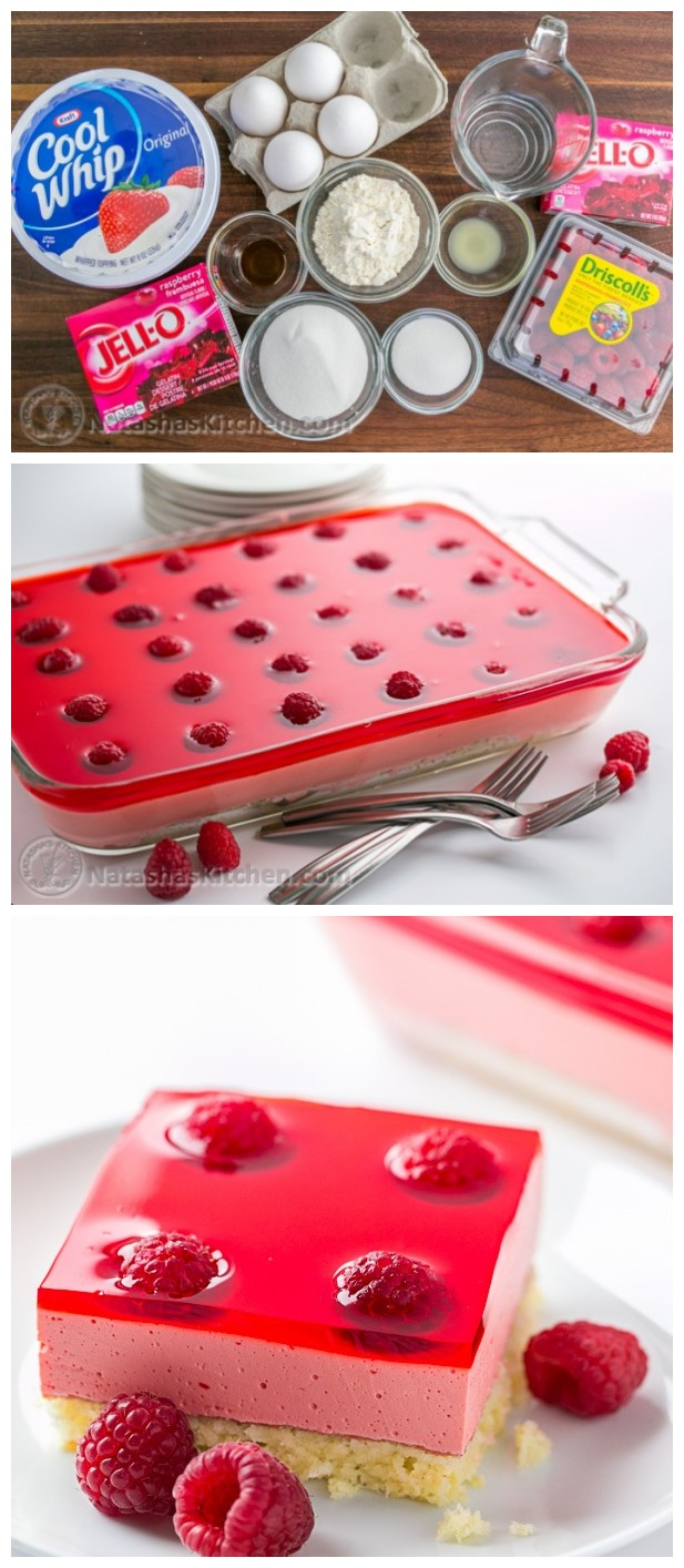 Raspberry Jello Cake Recipe