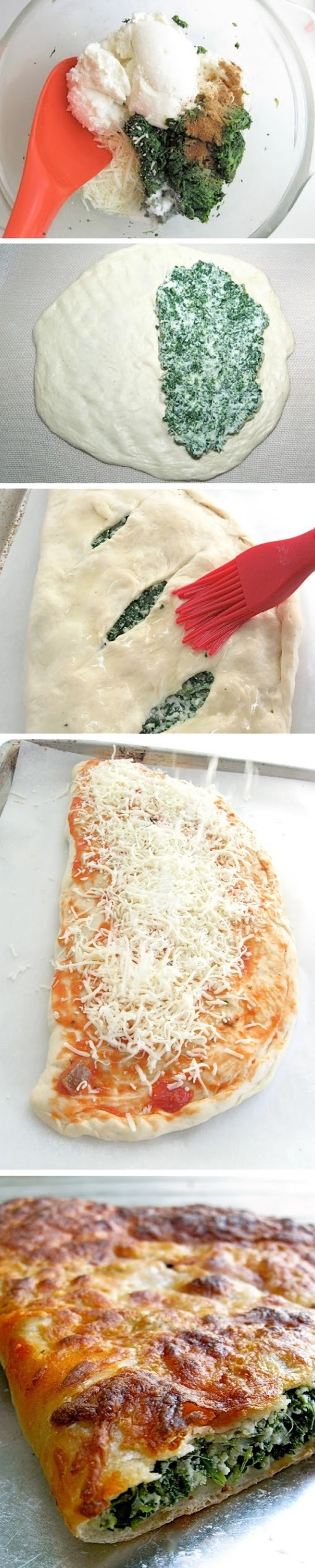 Spinach Ricotta Calzones