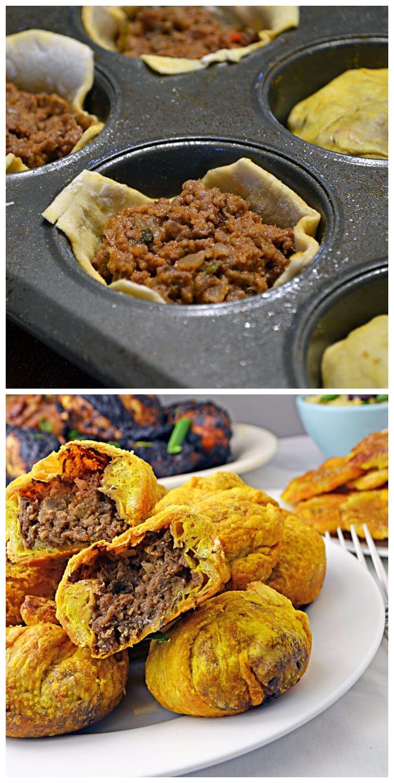 3bite jamaican beef patty  shake that bacon