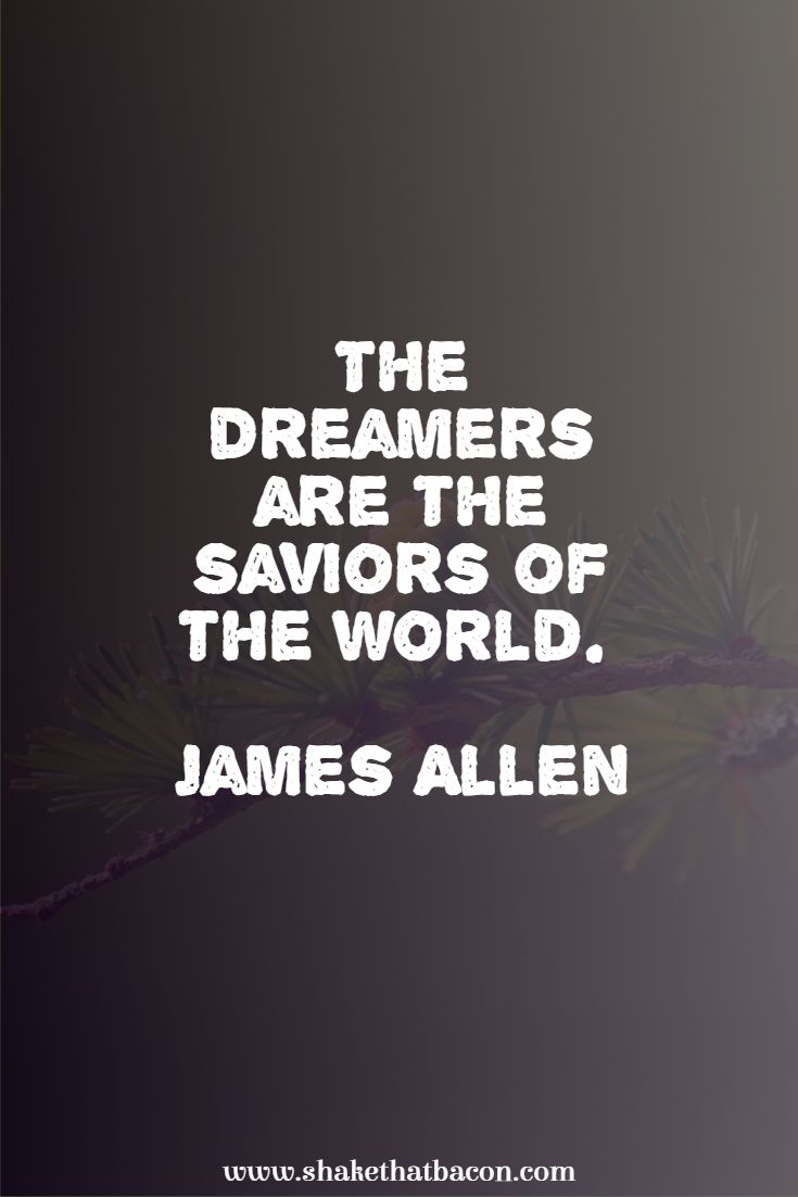 The dreamers are the saviors of the world. James Allen
